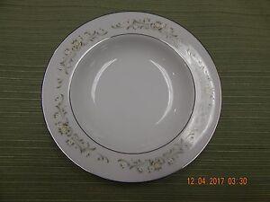 Sango Debutante soup/cereal bowl, new, flowers and scrolls, platinum rim