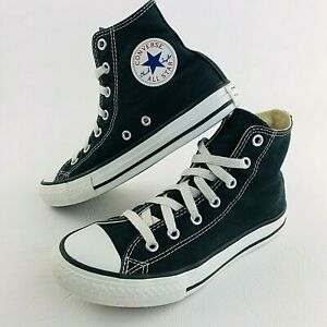 Converse Chuck Taylor All Star High Tops US 2 Youth Shoes Sneakers Black