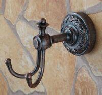 Antique Copper Bathroom Towel Coat Hooks Dual Robe Hook Hanger Holder fba154