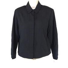 Nygard Blazer Jacket Women Petite Size 6P Black Career Long Sleeve Rayon Wool