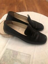 Women's J.P. Tod's Black Leather Flat Loafers EUR 36 (5-5.5) Made In Italy