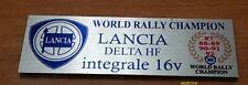 Lancia delta hf integrale 16 valvole evoluzione 1 badge stemma targhetta tunnel