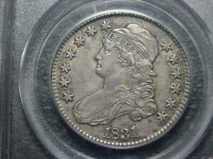 1831 PCGS CERT XF 45 CAPPED BUST HALF DOLLAR LOOKS AU