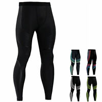 Men's Compression Legging Gym Running Basketball Long Pants Cool Dry Tight fit