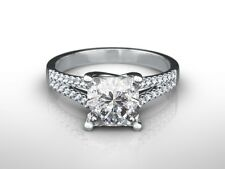 1.75 CT PRINCESS CUT H/VS1  DIAMOND  SOLITAIRE ENGAGEMENT RING 14K WHITE GOLD
