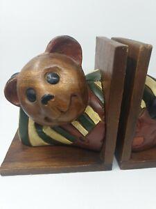 Vintage Teddy Bear Bookends