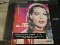 """COFFRET LIVRE + 4 DVD NEUF """"ROMY SCHNEIDER : LE PROCES / LES CHOSES DE LA VIE /"""