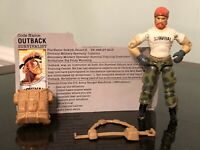 1987 Vintage Gi Joe OUTBACK With File Card & Pack