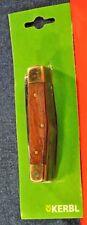 """KERBL""  Wooden handle&GT German Multi tools  Pocket Knife c.1990's NEW"