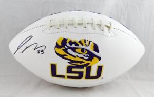 Jamal Adams Autographed LSU Tigers Logo Football - JSA Witness Authentication