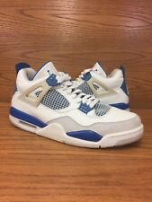 Air Jordan 4 Retro Military Blue 2006 White Mens Basketball Shoes Size 10.5