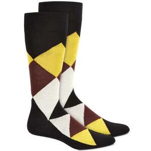Alfani Mens Knit Argyle Fashion Dress Socks BHFO 5540