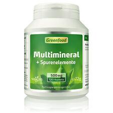 Greenfood Multimineral + Spurenelemente, hochdosiert, 120 Kapseln - vegan