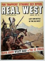 Jan 1958 REAL WEST Mens Magazine, Sex Ritual, Wyatt Earp & The OK Corral