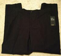 Marc Anthony Men's Linen Elastic Back Luxury Slim Black Drawstring 33x30 Pants