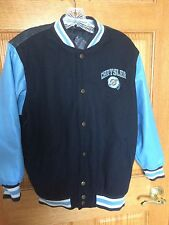 Chrysler Daimler Blue Wool Blnd Varsity Letterman Jacket Men's Size S/M Coat b32