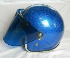 Vintage Arthur Fulmer Blue Metalflake Helmet, with Visor, Size Med,  (D.S.)