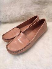 Stuart Weitzman Loafer Ballerina Mach1 Beige Size 7,5 Patent Leather Flat 37
