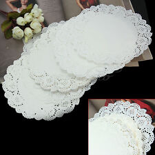 """50pcs 7.5"""" White Round Paper Lace Doilies Party Wedding Cupcake Cake Placemat"""