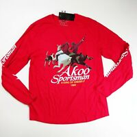 AKOO MENS L/S Tshirt SIZE LARGE 100% AUTHENTIC RED Logo sports man