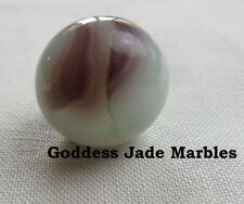 "Vintage Marble Akro Agate Milky Anemic Oxblood 5/8"" Goddess Jade Marbles"