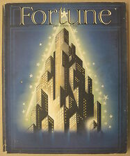 Fortune Magazine Art Deco Joseph Binder Christmas Tree New York Skyline 12/1937