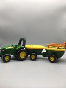 "Tomy John Deere Animal Sound Hayride Farm Toy REPLACEMENT TRACTOR TRAILER 14"" B7"
