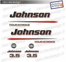 Adesivi motore marino fuoribordo Johnson 3.5  cv four stroke  gommone barca