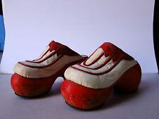 RARE Vintage 1970's Leather and Wood  original Shoes Mariazinha Lisboa