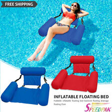 Piscina Inflable Natación Flotante Silla nos asientos cama de agua plegable silla con apoya pies
