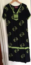 Sunset Rose Short Sleeve Black Art to Wear Dress Size S