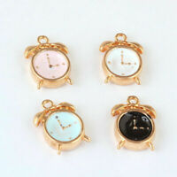 10pcs 3D Cute Enamel Alarm Clock Charm Pendant 15*10mm Fit DIY Bracelet Making