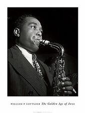 JAZZ ART PRINT - CHARLIE PARKER by William Gottlieb 32x24 Saxophone Music Poster