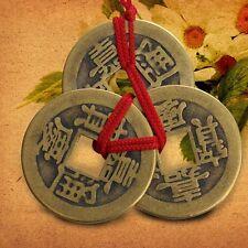 Mode 2 Set of 3 Chinese Chinesische Glücksmünzen Talisman Feng Shui```