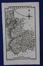 Original antique miniature county map LANCASHIRE, Samuel Leigh, 1820-31