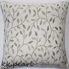 Retro Vintage Cushion Cover VOYAGE CERVINO  Leaves Fabric Reversible 16""