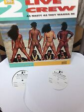 """Original Test Pressings of 2 Live Crew """"As Nasty as They Wanna Be"""" W/ free Shirt"""