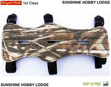 TIRO Con L/'Arco Braccio Protezione Avambraccio Polso Protettore Mimetica finitura 3 Strap Armguard UK
