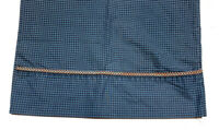 Croscill Vintage 1980s HTF Houndstooth Pillowcase Blue Black Print Bedding