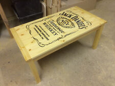 BESPOKE CARVED JACK DANIELS COFFEE TABLE MAN CAVE LADY CAVE GAMES ROOM