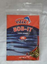 Spinner Bob-it  # 6 hook, black and gold, etic #761759 (ref#bte17)