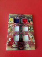 MICHAEL JORDAN LARRY BIRD MAGIC JOHNSON KAREEM DR J 6 JERSEY CARD #d1/5 LEAF