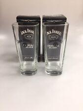 2 X Jack Daniels Highball Tall Glass. Bar Gift JD. Talk Glass No 7