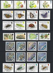 ASCENSION 1987/90 Commemorative Sets (17) MNH