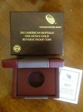 """2013-W $50 AMERICAN BUFFALO GOLD REVERSE PROOF (MINT PACKAGING) """"NO COIN"""""""