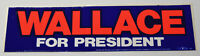 1970s Vintage Wallace for President Americana Campaign Decal Bumper Sticker