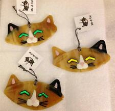 One Charlotte Arvelle Kiln Fired Glass Mimi Cat Signed Ornament 9MM