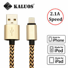 Kaluos Braided Charger Data USB Cable for iPhone 6S 7 5S 6 6S iPad Mini Original