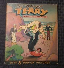 1935 The Pop-Up TERRY AND THE PIRATES Milton Caniff GD+ Pleasure Books