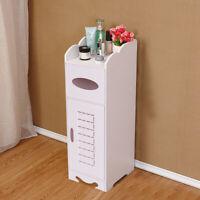 Modern Wooden Bathroom Cabinet Shelf Cupboard Bedside Storage Unit Free Standing
